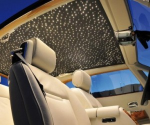 The Starlight Headliner is a factory-installed option on the Rolls-Royce Phantom Coup...